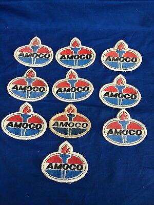 Vintage Advertising  Amoco Gas And Oil CO Lot Of 10 Patches