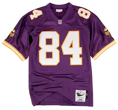 13deae1bb Randy Moss Minnesota Vikings Mitchell & Ness Authentic 1998 Purple NFL  Jersey