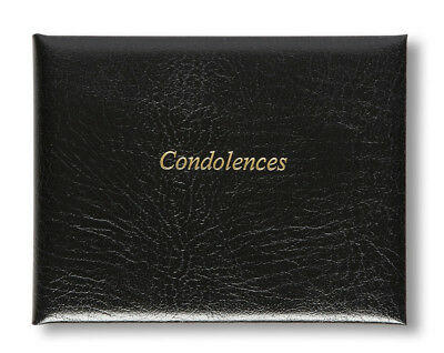 Deluxe UK Made High Quality Leather Book of Condolences For Funerals Wake Memory