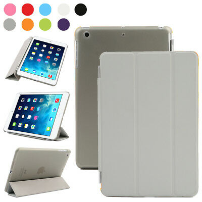 Apple iPad Air 2 Tablet Tasche Schutz Hülle Smart Back Case Etui Cover Grau