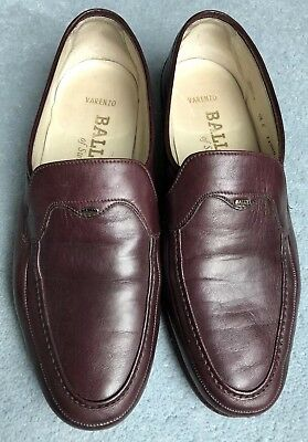 BALLY of Switzerland Oxblood Maroon Shoes Size 6 1/2 All Leather Original Sole