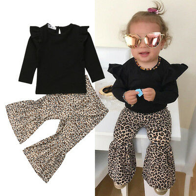 2PCS Toddler Girls Kids Winter Casual Top+Pant Leggings Outfits Sets Clothes