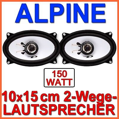 Alpine SXE-4625S - 4x6 2-Wege Speaker Box Set 10x15cm 4x6 Inch Koaxe New