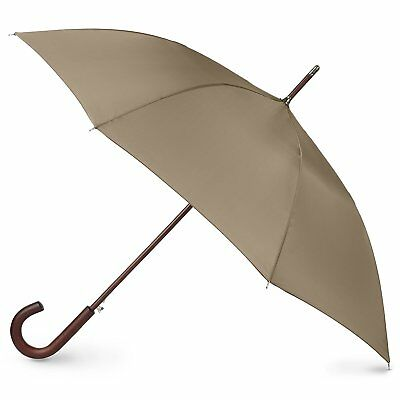 totes Auto Open Wooden Stick Umbrella