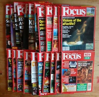 BBC Focus magazine bundle 21 issues from 1990s & 2000s job lot