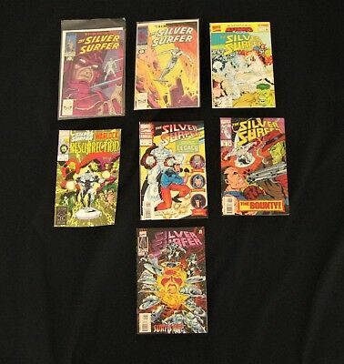 Lot of 7 Silver Surfer Comics #1 & #2 1988 Marvel Comics Plus 5 others 1992 1993