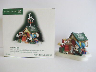 Dept 56 Wrap and Roll North Pole Series *Needs Repair*
