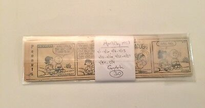 PEANUTS COMIC STRIPS: 30 from April 1957, dailies