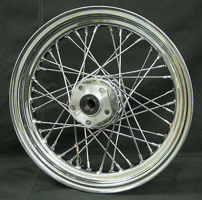"Chrome 40 Spoke 16"" x 3"" Rear Wheel for Harley FX/FL Softal Dyna XL 1984-1999"