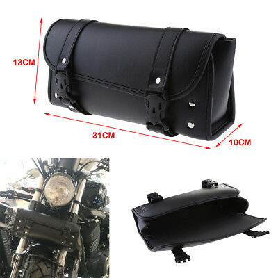 Motorcycle Front Fork Tool Pouch Handlebar Storage Bag Luggage Saddle Bag