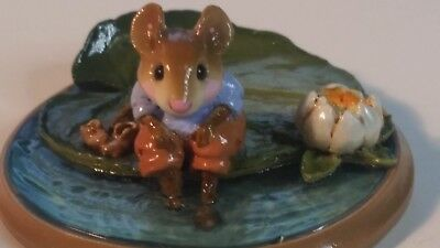 Wee Forest Folk  PM-3 Lilypaddle Mouse on lilly pad William Petersen 2000