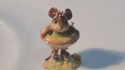 Wee Forest Folk  M-278 Little Dipper mouse on the beach DAISY
