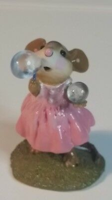 Wee Forest Folk Poppy's Bubbles RETIRED rare Limited pink dress