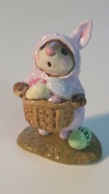 Wee Forest Folk Easter Bunny mouse special color Lavender RETIRED