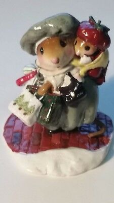 Wee Forest Folk Figurine M-430 s RETIRED Bustling with Baby LIMITED to 600 RARE
