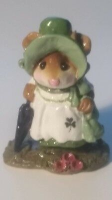 Wee Forest Folk Figurine M-195b RETIRED Irish St. Patrick's Day mouse paddy 1993