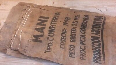 Vintage hessian confectionery sacks 25kg industrial display shop kitchen garden