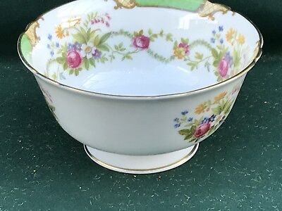 Vintage Shelley DUBARRY Green 13396 Large Sugar Bowl