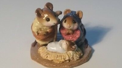 Wee Forest Folk  M-117 Chris-Mouse Pageant Christmas Nativity Mary Joseph Jesus