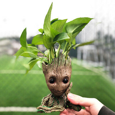 Guardians of Galaxy Baby Groot Tree Man Figure Flower Pot Pen Pot Kids Toy Gift