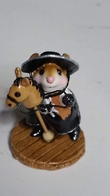 """Wee Forest Folk M-290 """"Clippity Clop"""" LIMITED EDITION black hat MINT mouse horse"""