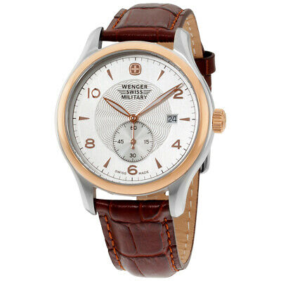 Wenger Silver Dial Leather Strap Men's Watch 79313C