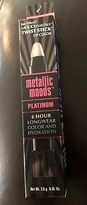 Fran Wilson Mood Matcher Metallic Lip Color, Platinum NEW SEALED