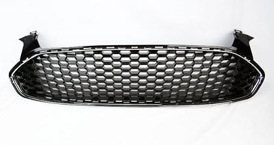 Ford Fusion 2013-2016 Gloss Black Front Bumper Honeycomb Mesh Grill