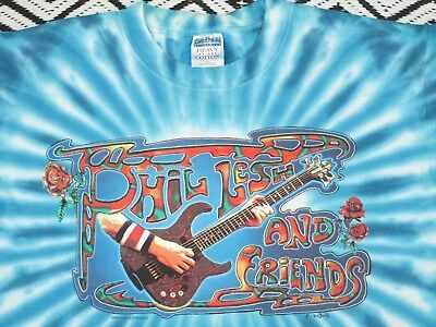 PHIL LESH & FRIENDS T Shirt 2000 Summer Concert tour L,Grateful dead , tie dye