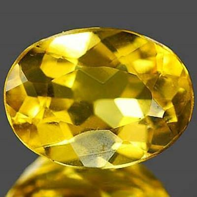 Aaa Natural Beryl Heliodor Ct 0.94 If Yellow Color Oval Cut Origin Brazil