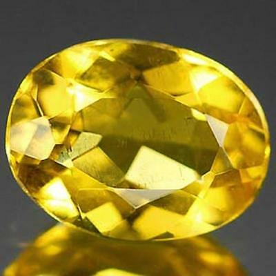 Aaa Natural Beryl Heliodor Ct 0.97 If Yellow Color Oval Cut Origin Brazil