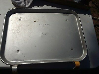 Vintage TraCo Sonic Drive-In Aluminum Car Hop Window Food Tray Dallas, U.S.A.