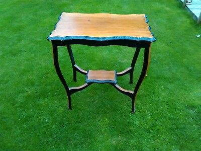vintage wooden side tabe