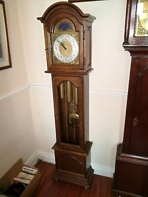 Grandmother triple-weight chiming clock,  German 8 day movement.