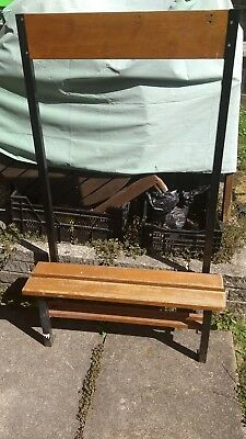 Vintage Old School Rare Cloakroom  /pe Changing Room Bench