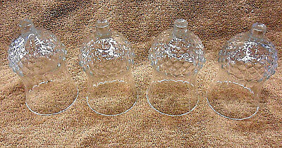 """4 Home Interior Homco Cathedral Diamond Bottom Votive Cup Candle Holders 4 3/4"""""""