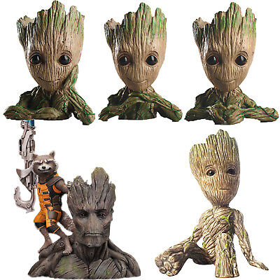 Guardians of The Galaxy Baby Groot Figure Figurine Flowerpot Pen Flower Pot UK