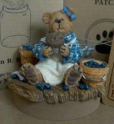 Yankee Candle Blueberry Boyd's Bear Muffin B Bluebeary Jar Topper with Tags