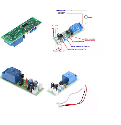 1 Piece Infinite Cycle Delay Timing Timer 12V DC Loop Module Trigger switch c33