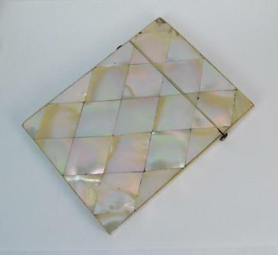 Victorian Mother of Pearl Ladies Calling Card Case