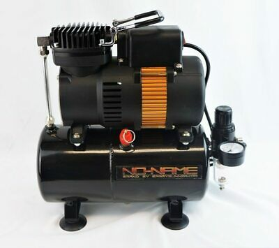 Tooty Airbrush Compressor by NO-NAME Brand with air tank, piston type new motor