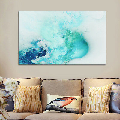 Abstract Beautiful Cloud Colorful Paintings Canvas Print Home Decor Wall Art GIF