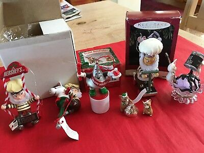 Lot of HERSHEY'S 1990s Christmas Tree Ornaments Kurt Adler VTG Keepsake Mixed