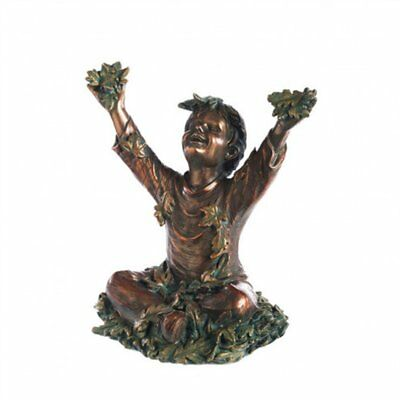 Evergreen Enterprises Playing In Leaves Child Statuary