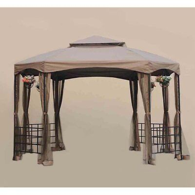 Sunjoy 10 x 12 ft. Replacement Canopy Cover for L-GZ240PST-A - Sienna Gazebo