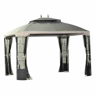 Sunjoy 10 x 12 ft. Replacement Canopy Cover for L-GZ120PST - Bay Window Gazebo -