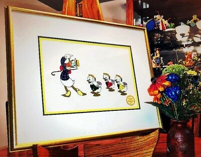 Disney's Mr. Duck Steps Out Limited Edition Serigraph Cel..donald Duck & Nephews