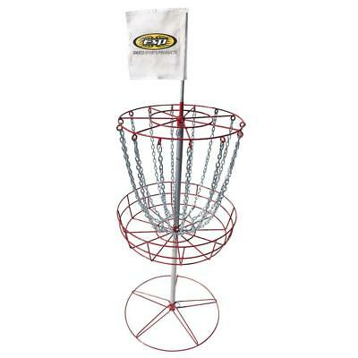 Sturdy Steel 70-in x 30-in x 30-in Frame Disc Golf Goal with Trapper Basket