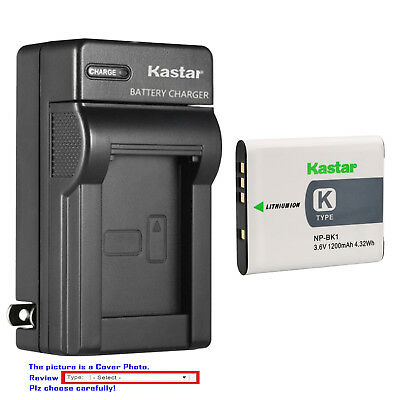 Kastar Battery Wall Charger for Sony NP-BK1 NP-FK1 K Type Battery BC-CSK Charger