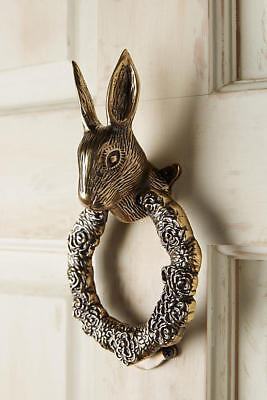 New Anthropologie Fabled Fauna Doorknocker ~ Rabbit  (Hard to Find! - Last One)